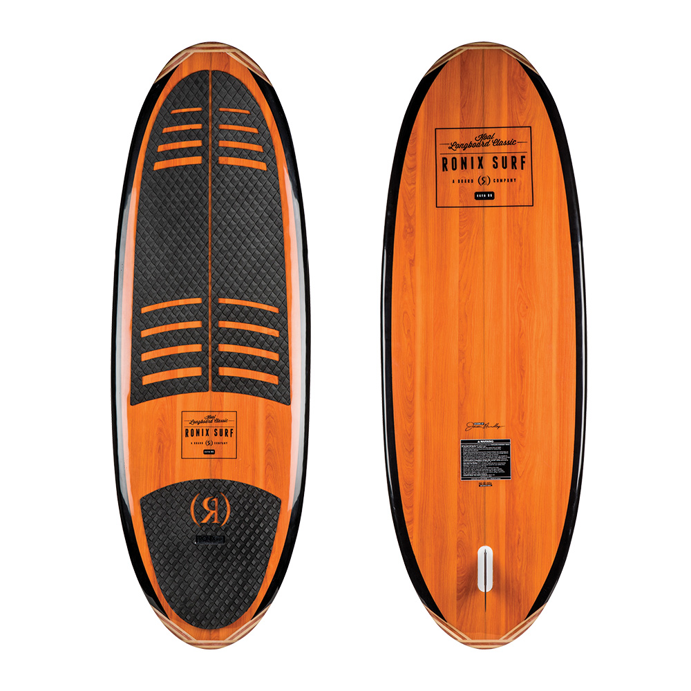 "Ronix Wakesurf Board Koal Classic Longboard 4'10"" 2019 Ober- und Unterseite"